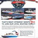 2021 Stingray Boats Color Ad- Photo 182-192-206-215-225-269