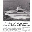 1960 B F Goodrich Bearings Ad- Nice Photo Hatteras Yacht