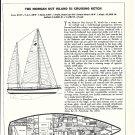 1974 Morgan 51 & Roger FD 35 Motorsailer 2 Page Double Ad- Boat Specs & Drawings