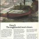 1974 AMF Alcort Force 5 Sailboat Color Ad- Nice Photo