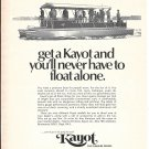 1970 Kayot Pontoon Boat Ad- Nice Photo