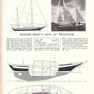 1967 Kenner 26' Privateer Sailboat Ad- Boat Specs & Drawing