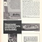 1969 Glassmaster Boats Ad- Photo of Daytona 700E & Playmate 500XE
