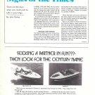 1974 Century Boat Co Ad- Photo of Ski Fury 19 & Mark II