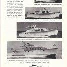 1959 Huckins Fairform Flyer Yachts Ad- Nice Photo of 34- 48- 53 & 64