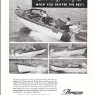 1959 Thompson Boats Ad- Photos of 17- 16- 19- 16- 14' Models