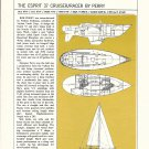 1978 Esprit 37 & Soverel 30 2 Page Double Boat Ads- Boat Specs & Drawings