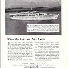"1940's Defoe Yacht Ad- Nice Photo of 1938 155' Yacht ""Bymar"""