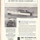 1958 Matthews 42 DeLuxe Sedan Yacht Ad- Nice Photo