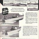 1958 Lyman Boat Works Ad- Photos of 9 Models