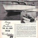 1958 Trojan Sea Breeze 27 Yacht Ad- Nice Photo
