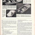 1958 Otis C Borum Boats Ad- Photo of 16' Safari- Hot Girl