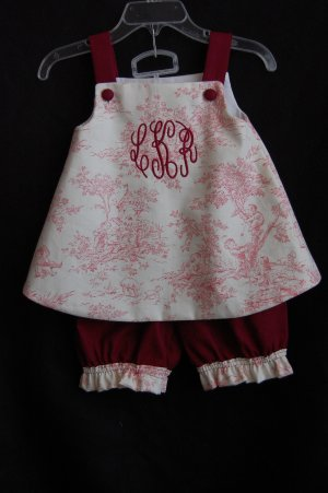 Toile Callie and Bloomer Set