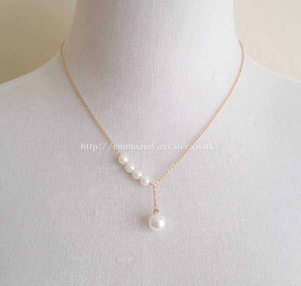 Elegant Pearl Gold Chain Japanese Style Necklace