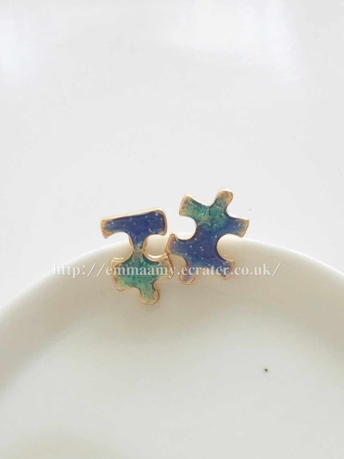 Exquisite Japanese Style Puzzle Star Stud Earrings