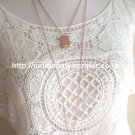 Bears Love Each Delicate Charm Rose Gold Plated Long Necklace