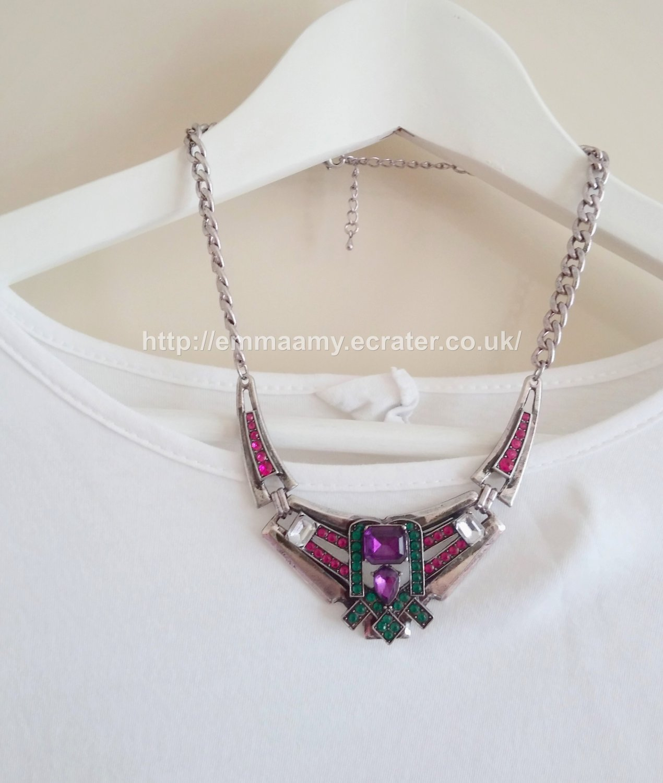 Retro Silver machinery Statement Bib Collar Necklace
