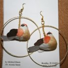 Large Bird Hoop Ear Rings