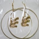 Gold Hoop Gold Dangly Ear Rings