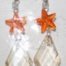 Orange Star with Diamond Shape Clear Bottom
