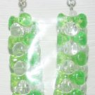 Lime Green/Clear Tower Stacked Ear Rings