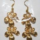 Gold Plated 2 Flower Design Ear Rings