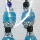 Elegant 69 Blue, Clear and Black Beaded Ear Rings(2)