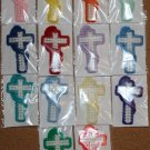 Cross Bookmarkers (A Variety of Colors) with Bible Scripture (In Spanish)