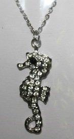 Silver Sea Horse Necklace