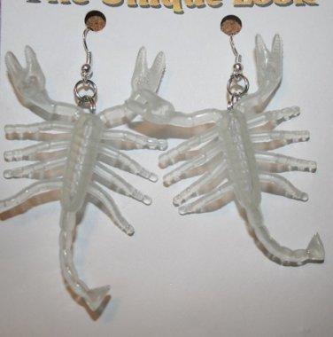 Scorpion Glow in the Dark Halloween Ear Rings