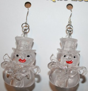 Glow in the Dark Snowman Ear Rings (Christmas or Winter )