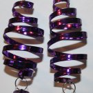 Christmas Curly Q Ear Rings (Purple) with Bell
