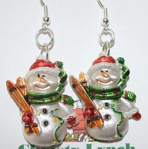 Frosty Snowman Ear Rings (Christmas)