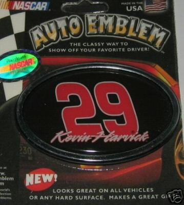 Kevin Harvick NASCAR 3-D Color Chrome Auto Car Emblem Gift