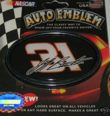Jeff Burton NASCAR 3-D Color Chrome Auto Car Emblem