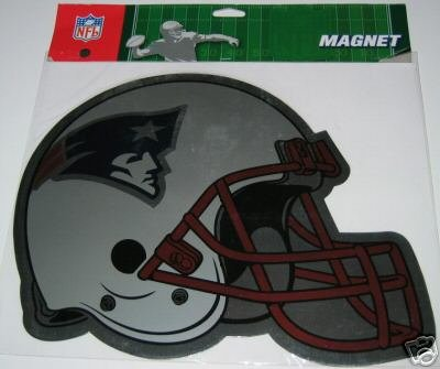 "New England Patriots Large 12"" Football Helmet Car Magnet Gift"