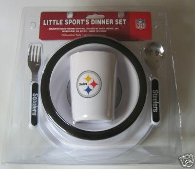 Pittsburgh Steelers Baby Kids Dinner Set Gift
