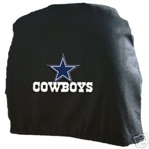Dallas Cowboys Auto Car Head Rest Covers Set Gift