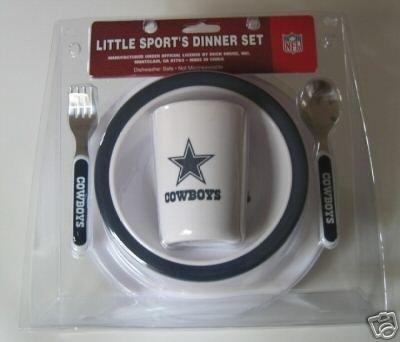 Dallas Cowboys Baby Kids Dinner Set  Gift