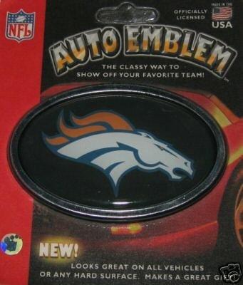 Denver Broncos 3-D Color Chrome Auto Car Emblem Gift