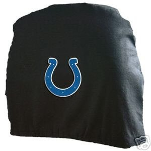 Indianapolis Colts Auto Car Head Rest Covers Set Gift