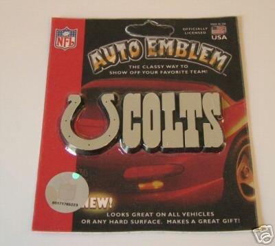Indianapolis Colts Chrome Auto Car Emblem Logo Gift