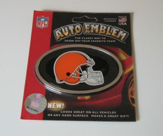 Cleveland Browns 3-D Color Chrome Car Emblem Gift