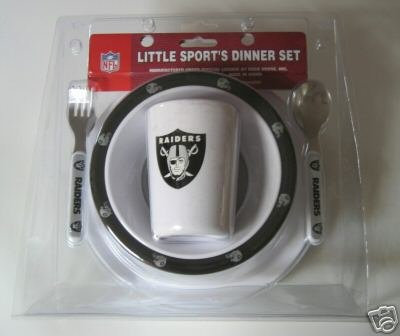 Oakland Raiders Baby Kids Dinner Set Gift