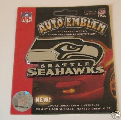 Seattle Seahawks Chrome Auto Car Emblem Logo Gift