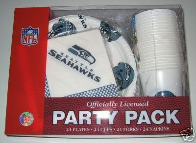 Seattle Seahawks 96pc Party Pack Cups Plates Napkins