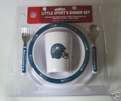 Seattle Seahawks Baby Kids Dinner Set Gift