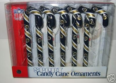 St. Louis Rams Candy Cane Christmas Tree Ornament Set Gift