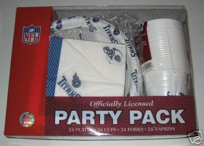 Tennessee Titans 96pc Party Pack Cups Plates Napkins