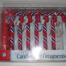 Buffalo Bills Candy Cane Christmas Tree Ornament Set Gift